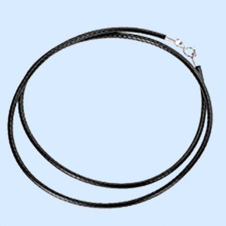 Collier en cordon noir de 47 cm