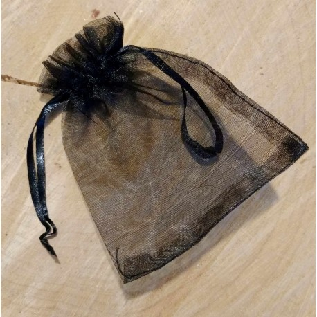 Sachet d'organza feuilles dorées (10 x 8)