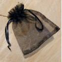 Sachet d'organza noir (10 x 8)