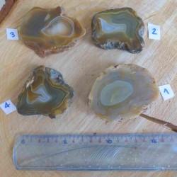 Pendentif d'agate naturelle plaquée argent