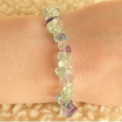 Bracelet Fluorite Arc-en-ciel ~ Stabilité (fluorine)