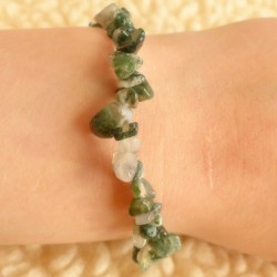 Bracelet Agate Mousse ~ Nature