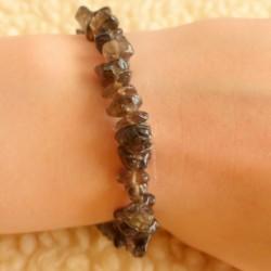 Bracelet Quartz fumé (morion) ~ Enracinement