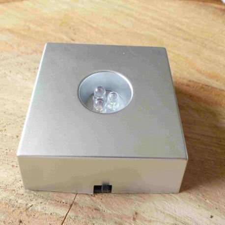 Support LED multicolore pour cristaux (piles incluses)