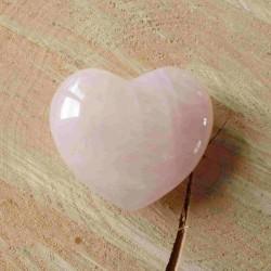 Grand Coeur de Quartz rose ~ Douceur