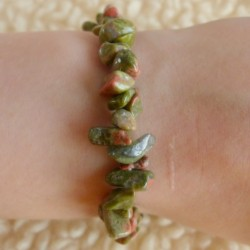 Bracelet Unakite (Epidote) ~ Force tranquille