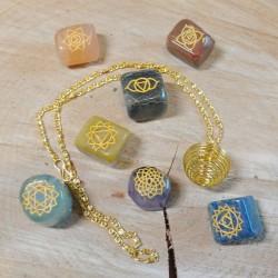 Kit pierres des chakras & spirale