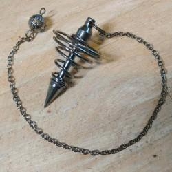 Pendule Spirale en laiton noir